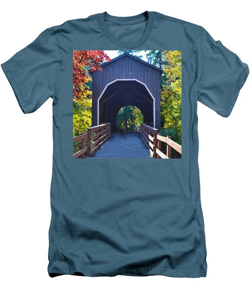 Pass Creek Covered Bridge Men's T-Shirt (Athletic Fit)