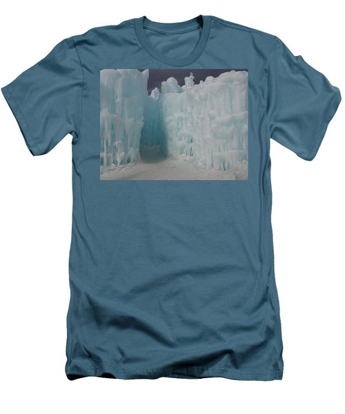 Passageway In The Ice Castle Men's T-Shirt (Slim Fit) by Catherine Gagne