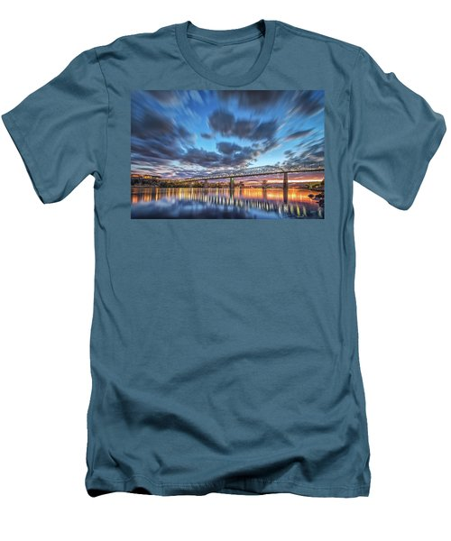 Passing Clouds Above Chattanooga Men's T-Shirt (Slim Fit) by Steven Llorca