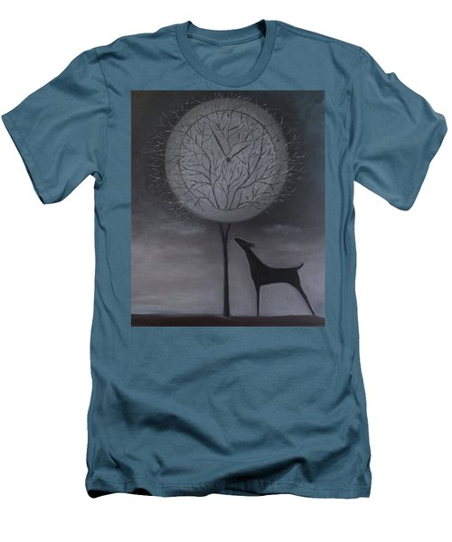 Men's T-Shirt (Slim Fit) featuring the painting Passing Time by Tone Aanderaa