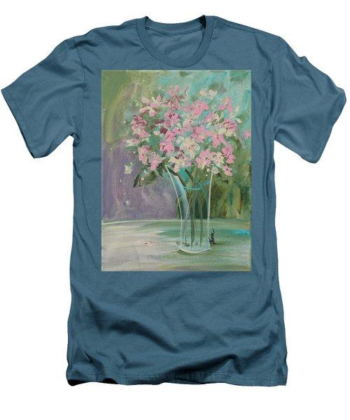 Pastel Blooms Men's T-Shirt (Slim Fit) by Terri Einer
