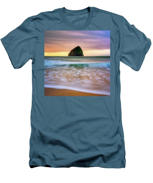 Men's T-Shirt (Slim Fit) featuring the photograph Pastel Morning At Kiwanda by Darren White