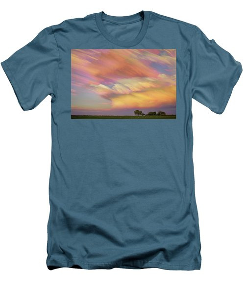 Men's T-Shirt (Slim Fit) featuring the photograph Pastel Painted Big Country Sky by James BO Insogna