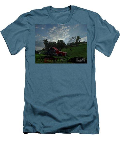 Pasture Under Elements Men's T-Shirt (Athletic Fit)