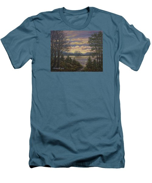 Path To The River Men's T-Shirt (Slim Fit) by Kathleen McDermott