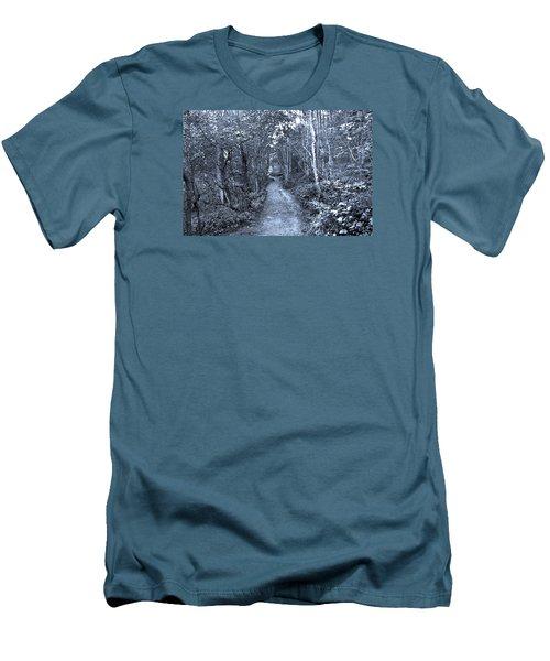 Path Trough The Blue Wood Men's T-Shirt (Athletic Fit)