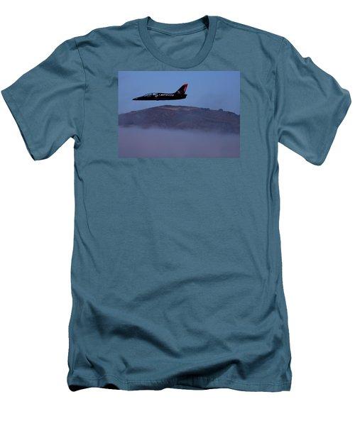 Patriot Jet Skims The Fog Over San Francisco Bay Men's T-Shirt (Athletic Fit)