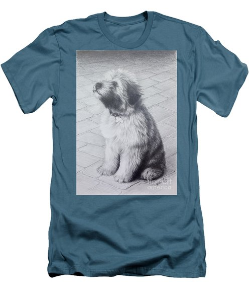 Patsy's Puppy Men's T-Shirt (Slim Fit) by Mike Ivey