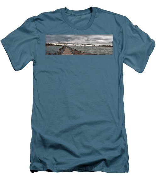 Peace Bridge Men's T-Shirt (Slim Fit) by Guy Whiteley