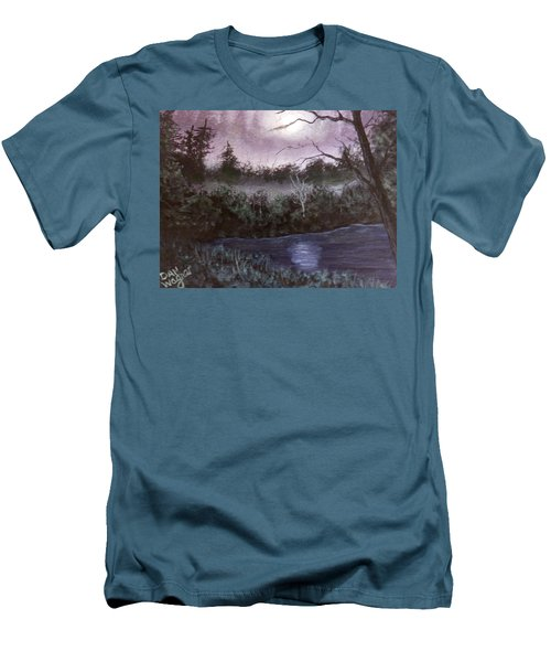 Peaceful Pond Men's T-Shirt (Slim Fit) by Dan Wagner