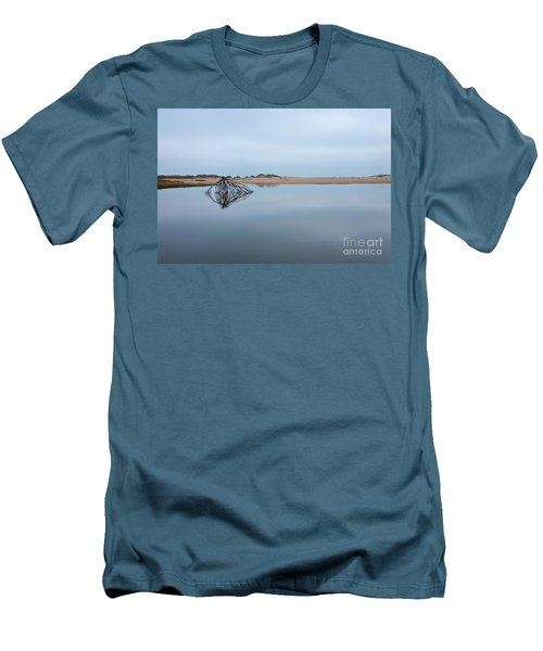 Peaceful Tidepool On The Outer Banks Men's T-Shirt (Slim Fit) by Dan Carmichael