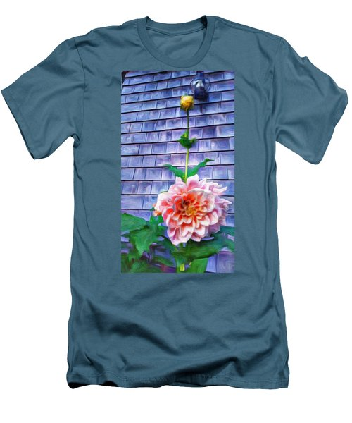 Peach Dahlia In Oil Men's T-Shirt (Athletic Fit)