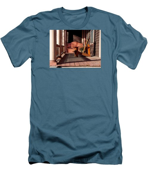 Men's T-Shirt (Slim Fit) featuring the photograph Peach Porch by Betsy Zimmerli