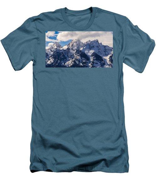 Peaks Of The Tetons Men's T-Shirt (Slim Fit) by Serge Skiba