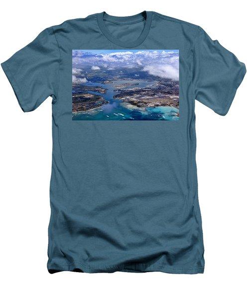 Pearl Harbor Aerial View Men's T-Shirt (Athletic Fit)