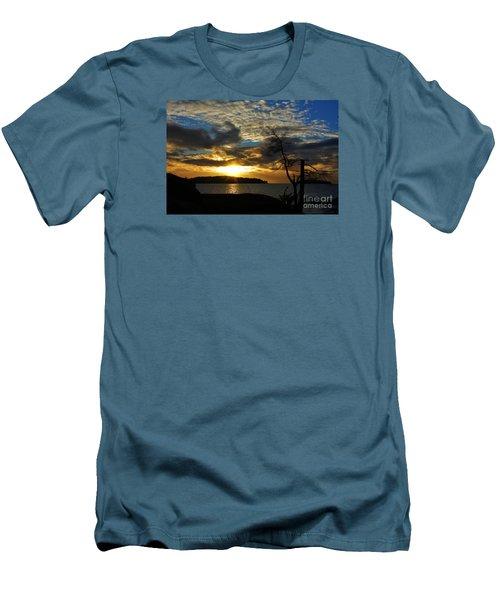 Pebbles  Beach Sechelt  Men's T-Shirt (Slim Fit) by Elaine Hunter
