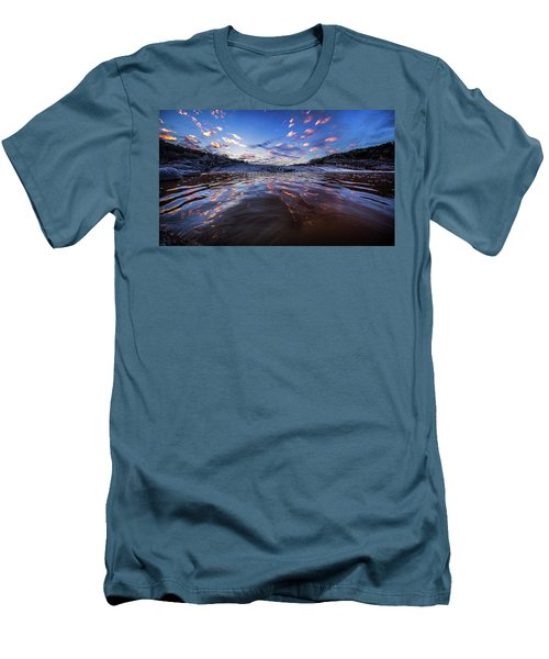 Peddernales Falls Sunset #1 Men's T-Shirt (Athletic Fit)
