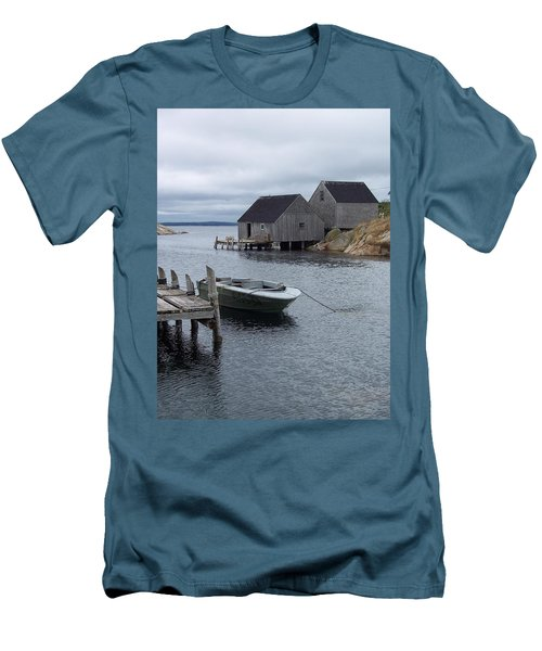 Men's T-Shirt (Slim Fit) featuring the photograph Peggys Cove Canada by Richard Bryce and Family