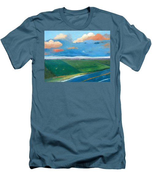 Men's T-Shirt (Slim Fit) featuring the painting Peggy's Road by Gary Coleman
