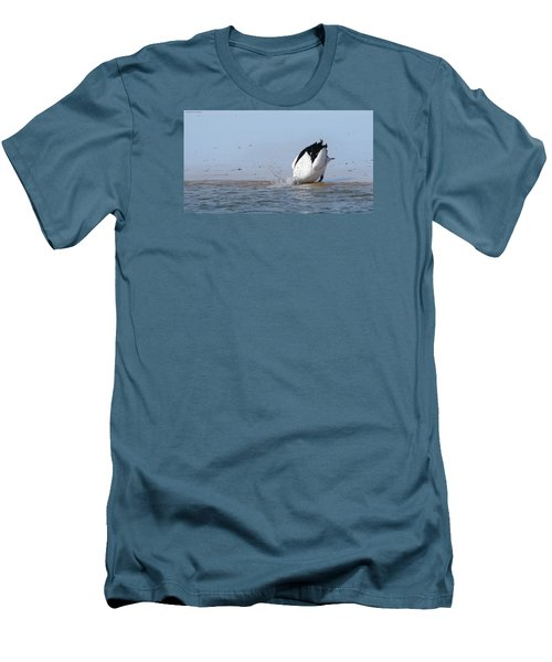 Men's T-Shirt (Slim Fit) featuring the photograph Pelican Fishing 001 by Kevin Chippindall