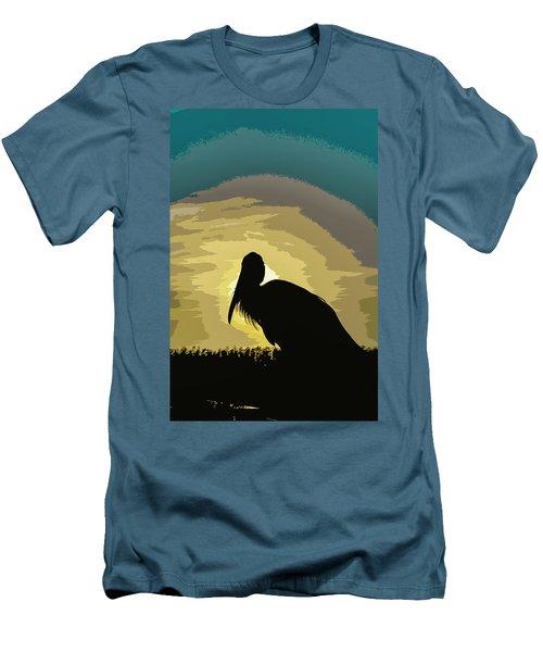 Pelican Paint Men's T-Shirt (Slim Fit) by Josy Cue