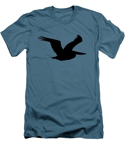 Men's T-Shirt (Slim Fit) featuring the photograph Pelican Profile .png by Al Powell Photography USA