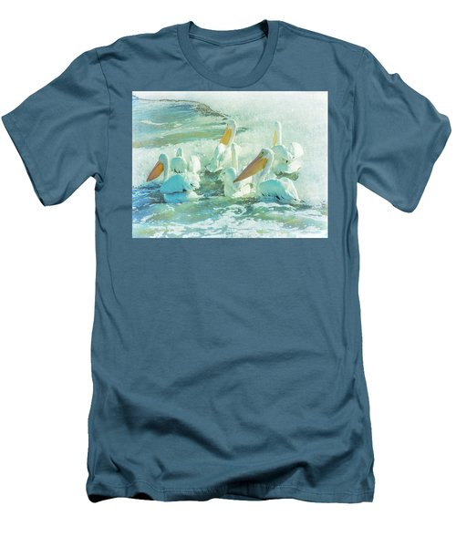 Pelicans On The Tide Men's T-Shirt (Athletic Fit)
