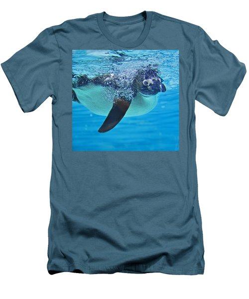 Penguin Dive Men's T-Shirt (Athletic Fit)