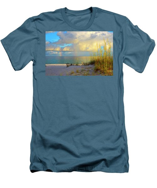 Pensacola Rainbow At Sunset Men's T-Shirt (Slim Fit) by Marie Hicks