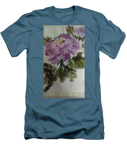 Peony20170126_1 Men's T-Shirt (Slim Fit) by Dongling Sun