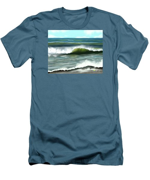 Men's T-Shirt (Slim Fit) featuring the digital art Perfect Day by Dawn Harrell