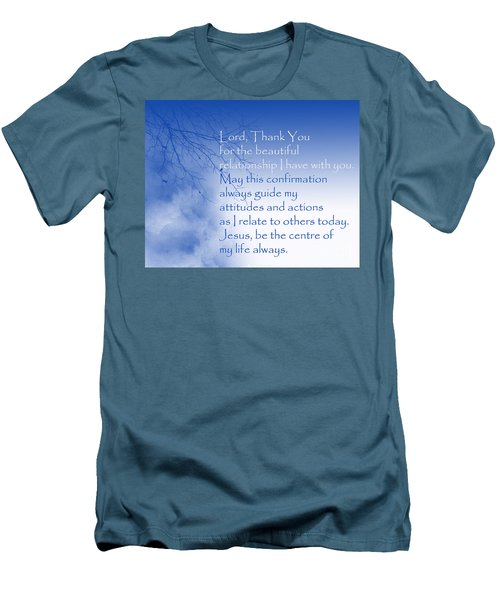 Perfect Relationship Men's T-Shirt (Slim Fit) by Trilby Cole