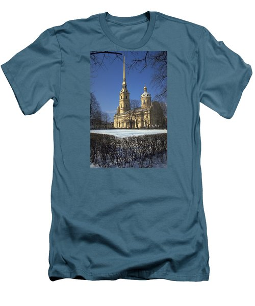 Peter And Paul Cathedral Men's T-Shirt (Slim Fit) by Travel Pics