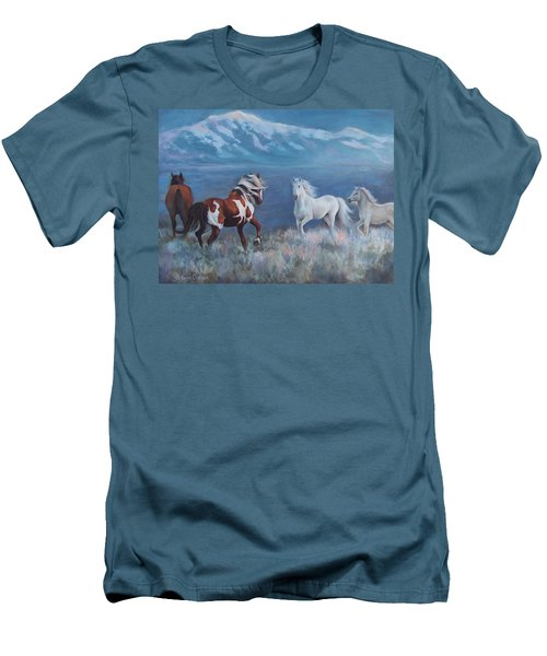 Phantom Of The Mountains Men's T-Shirt (Slim Fit) by Karen Chatham