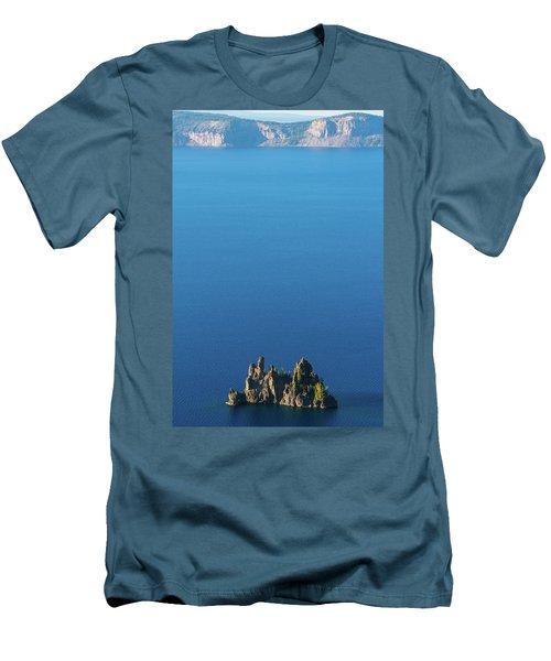 Phantom Ship Island Crater Lake National Park Oregon 2 Men's T-Shirt (Athletic Fit)