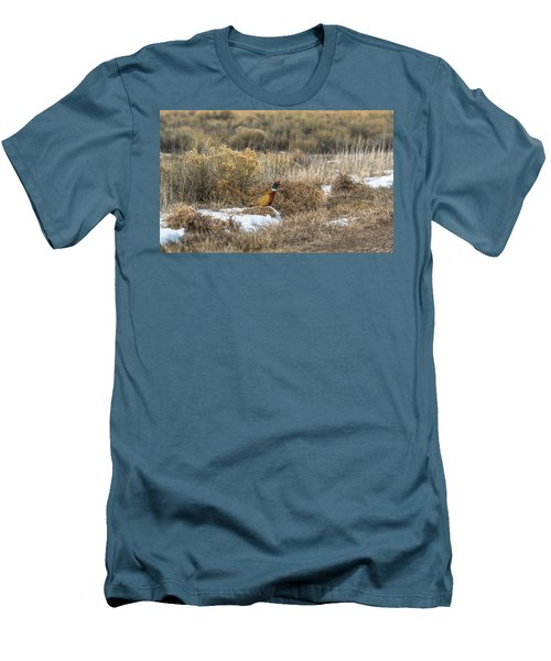 Pheasant Glory Men's T-Shirt (Slim Fit) by Yeates Photography