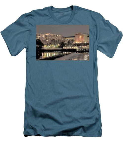 Philadelphia Art Museum In Pastel Men's T-Shirt (Athletic Fit)