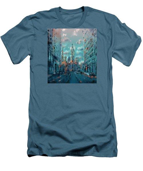 Philadelphia Street Men's T-Shirt (Slim Fit) by Bekim Art