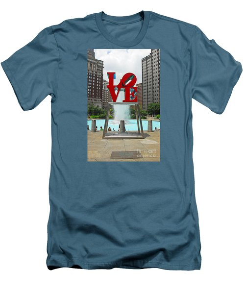 Philadelphia's Love Park Men's T-Shirt (Athletic Fit)