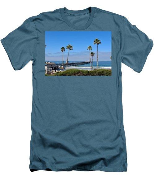 Pier And Palms Men's T-Shirt (Athletic Fit)