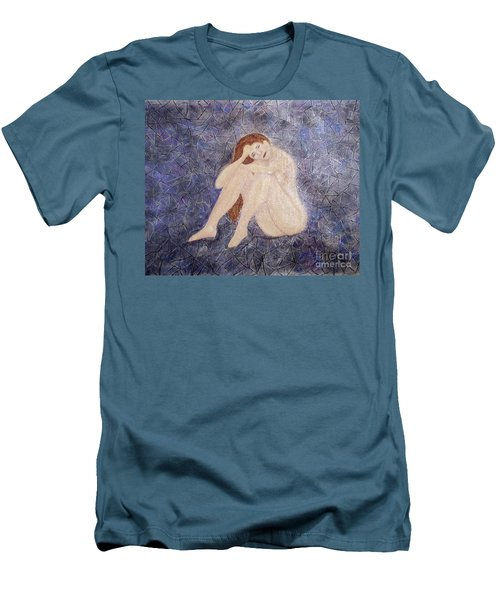 Men's T-Shirt (Slim Fit) featuring the painting Pieces Of Me by Desiree Paquette