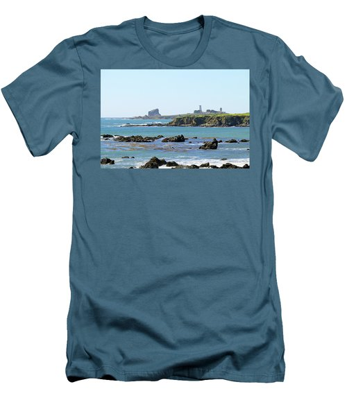 Men's T-Shirt (Slim Fit) featuring the photograph Piedras Blancas Lighthouse by Art Block Collections
