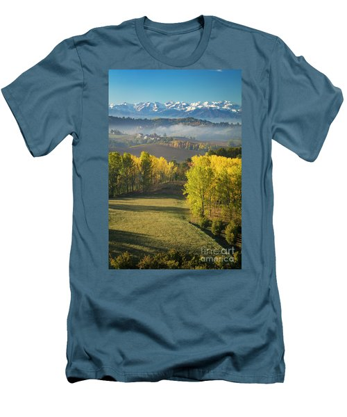 Men's T-Shirt (Slim Fit) featuring the photograph Piemonte Morning by Brian Jannsen