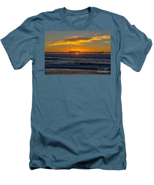 Pier Cafe Men's T-Shirt (Athletic Fit)