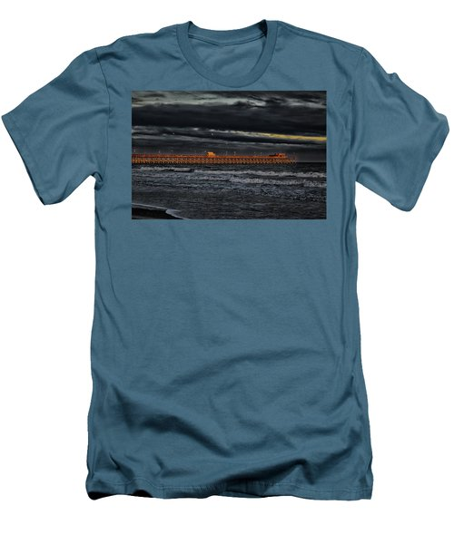 Men's T-Shirt (Slim Fit) featuring the photograph Pier Into Darkness by Kelly Reber