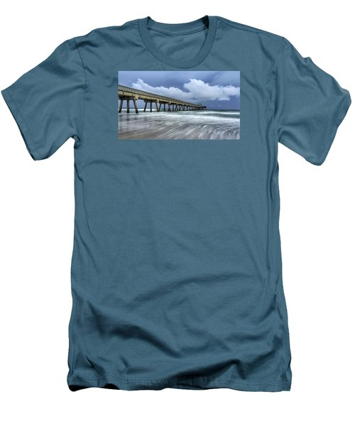 Pier Time Lapse Men's T-Shirt (Slim Fit)