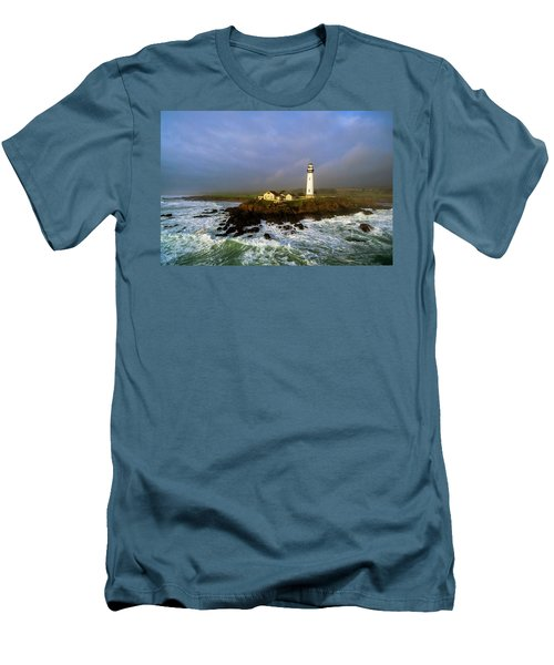 Men's T-Shirt (Slim Fit) featuring the photograph Pigeon Point Lighthouse by Evgeny Vasenev