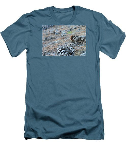 Men's T-Shirt (Slim Fit) featuring the photograph Pine Cones by Kay Gilley
