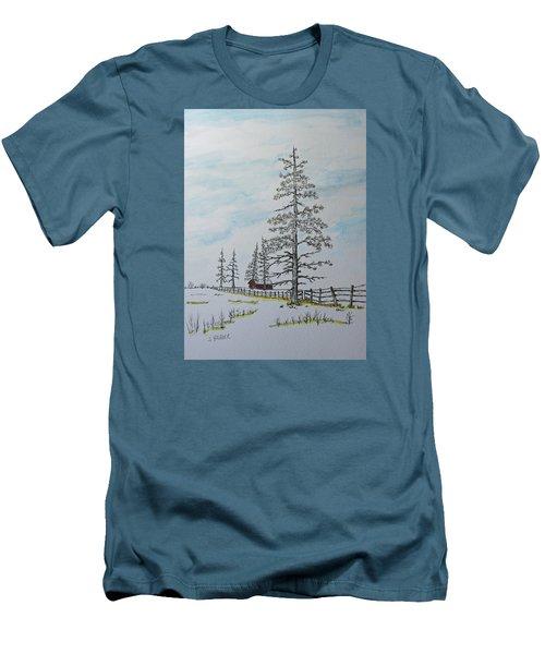 Pine Tree Gate Men's T-Shirt (Slim Fit) by Jack G  Brauer