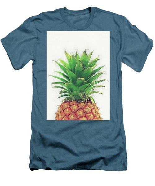 Men's T-Shirt (Slim Fit) featuring the digital art Pineapple by Taylan Apukovska